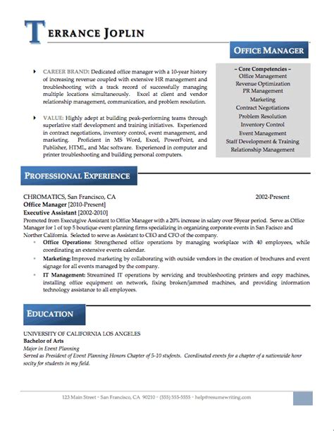 excellent resume format for office administrator dental office manager resume sle sle resumes