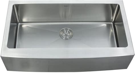stainless steel sink undercoating kraus khf20036kpf1612ksd30ch 36 inch farmhouse single bowl