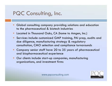 Mba Consulting Services Inc by Global Trends Development In Biopharmaceutical Contract