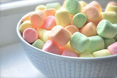 color marshmallows fly on wing candycolored