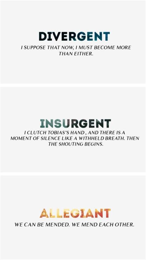concluding section of a book the last part from each book divergent insurgent