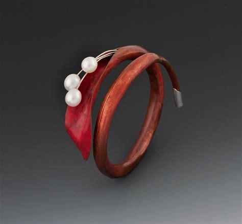 colored calla calla copper silver colored pencil freshwater pearls