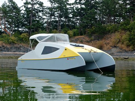 small boat monthly eco 5 power cat small boats monthly