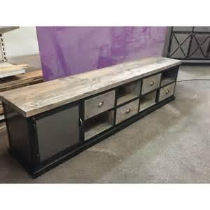 meuble industriel tv acier et bois 4 tiroirs m d 233 co
