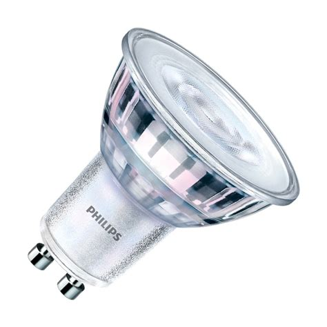 Philips Led Bulb 4w philips classic ledspot 4 4w warm white dimmable led gu10 bulb lighting direct