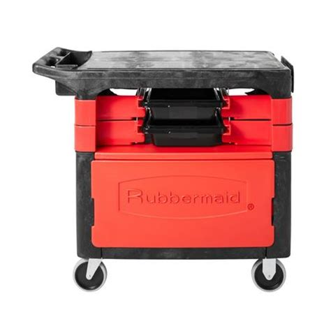 service bench com rubbermaid trade cart service bench 38 in l black