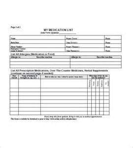 medication order form template medication list template 10 free sle exle