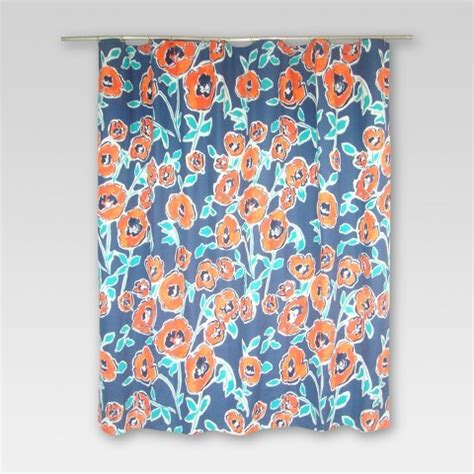floral shower curtain target threshold shower curtain windblown floral target