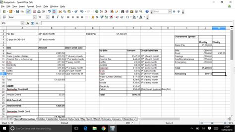 50 30 20 Budget Spreadsheet by 50 30 20 Budget Spreadsheet