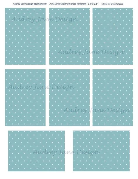 2 5 x 3 5 card template atc png photoshop template 8 cards 2 5 quot x 3 5 quot on letter