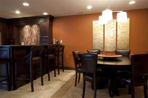 dining room bars basement bar with dining game table