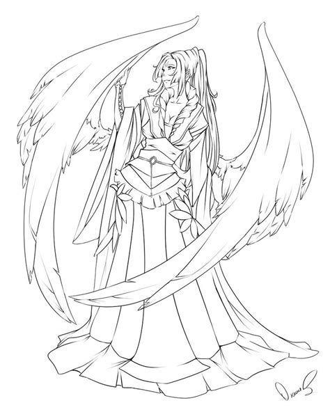 coloring pages dark angel anime dark angel coloring pages