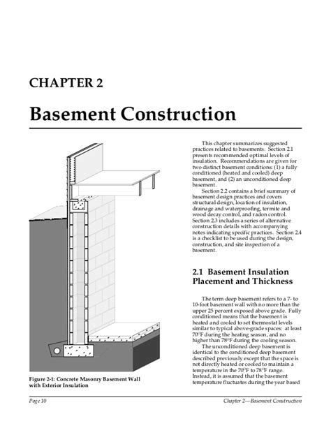 exterior wall thickness builders foundation book