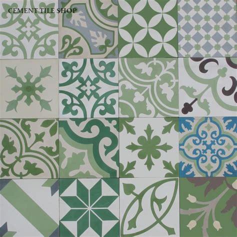 Patchwork Cement Tile - cement tile shop encaustic cement tile patchwork green