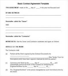 Basic Service Agreement Template by Contractual Agreement 7 Free Pdf Doc