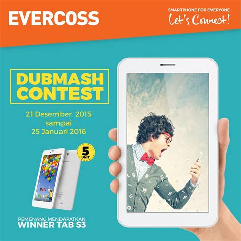 Tablet Evercross Winner Tab S3 kontes dubmash evercoss berhadiah tab s3 www konteskuis