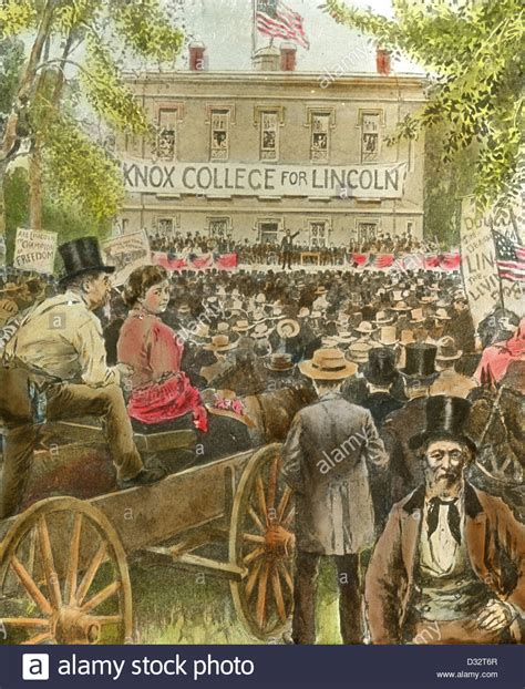 tinted image circa 1900 tinted image the lincoln douglas debate