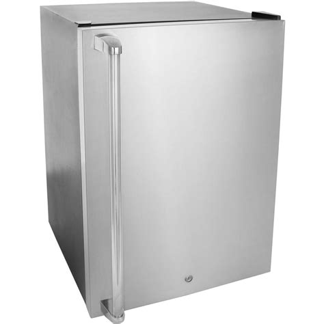 Blaze 4.6 Cu. Ft. Compact Refrigerator With Towel Bar Handle   Stainless Steel   BLZ BC 130B