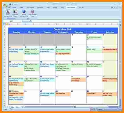 excell calendar template 9 microsoft excel weekly calendar template ledger paper