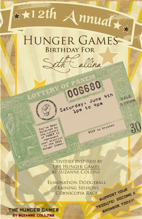 printable hunger games birthday invitations 96 best images about hunger games party on pinterest