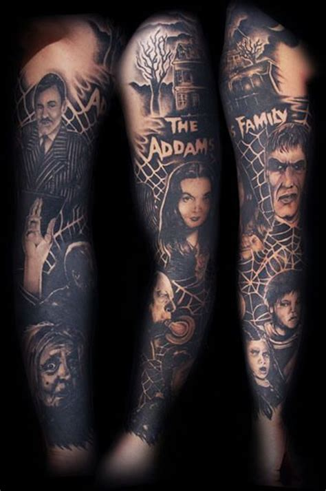 morticia addams tattoo 50 best family tattoos images on