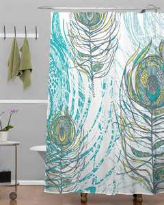 deny peacock feathers shower curtain