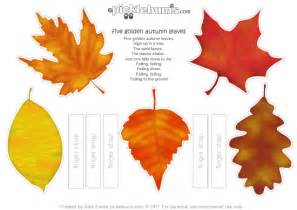 autumn leaf template free printables printable autumn leaf puppets and a song picklebums