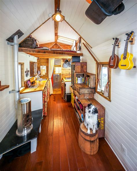 tiny home interiors couple quits day jobs builds quaint tiny home on wheels