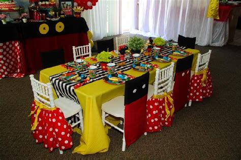 mickey mouse chair sashes mickey minnie theme custom chair cover dessert table