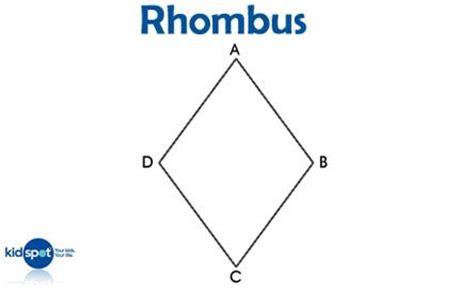 free printable rhombus shapes image gallery rhombus shape