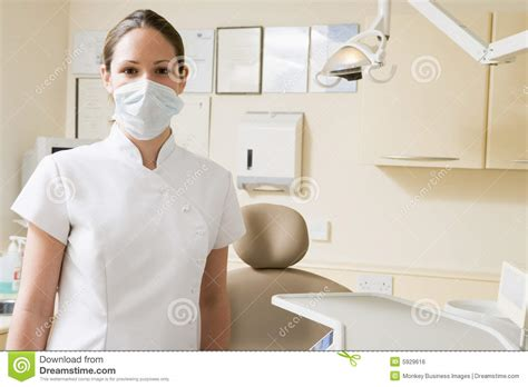 dental assistant in room with mask on royalty free stock image image 5929616