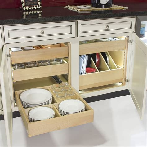 kitchen cabinet drawer kits tenn tex quiktray two drawer kit for 24 quot cabinets qt