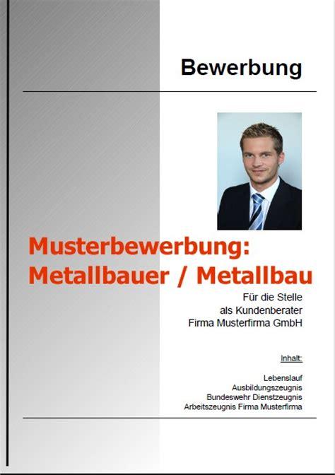Bewerbung Als Metallbauer musterbewerbung metallbauer deckblatt bewerbung 2018