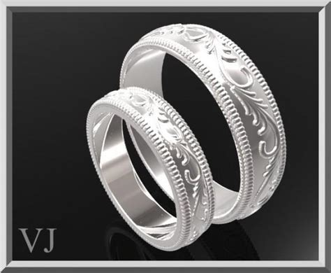 matching wedding band his and hers silver matching wedding