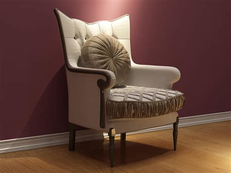 European Lounge Chair Design Ideas European Style High Back And Single Sofa 3d Model Including Materials 3d Model