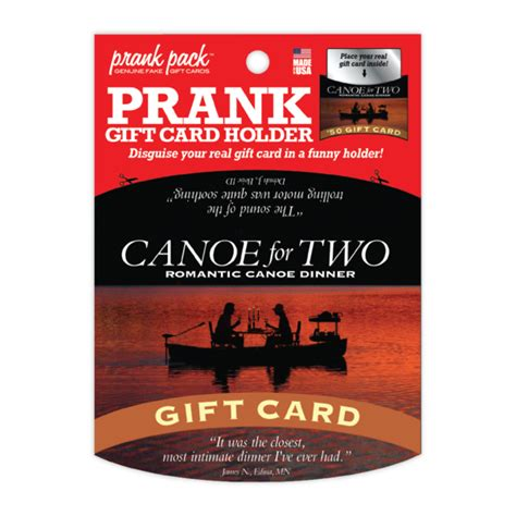 Funny Gift Card Holders - canoe for two prank gift card holder 4 99 funslurp com unique gifts and fun