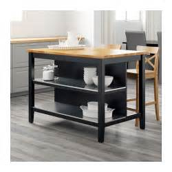 Kitchen Island Tables Ikea by Stenstorp Kitchen Island Black Brown Oak 126x79 Cm Ikea