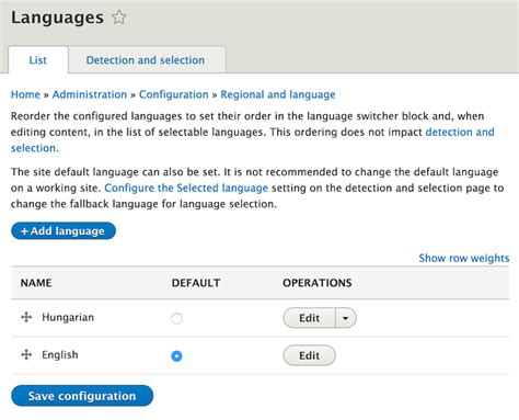 drupal theme language switcher drupal 8 multilingual tidbits 3 simple language setup