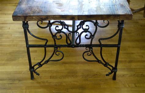 wrought iron kitchen table base