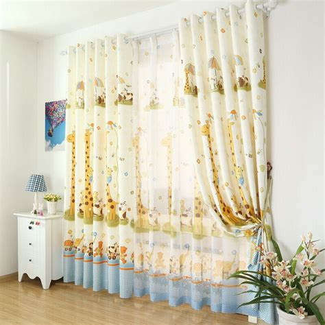 curtains for kids bedroom giraffe cute cartoon animals custom curtains for kids room