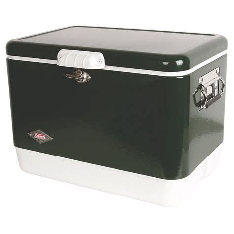 coleman 54 qt green steel cooler 3000003096 the home depot