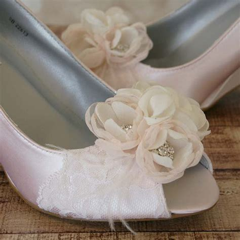 Blush Wedge Wedding Shoes by Wedding Shoes Blush Peep Toe Wedge Wedding Shoes With Lace