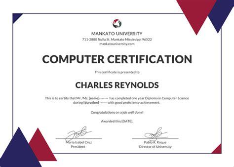 computer certificate templates 76 creative custom certificate design templates free