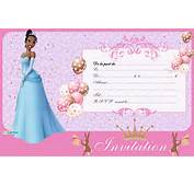 Invitation Anniversaire Princesse Tiana  123 Cartes