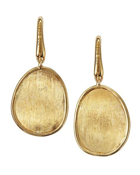 18k Gold Drop Earring lyst marco bicego lunaria 18k gold drop earrings in metallic