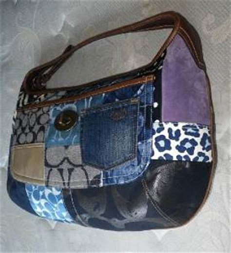 Coach Ergo Patchwork Tote by Mint Coach Indigo Denim Blue Patchwork Ergo Xl Hobo
