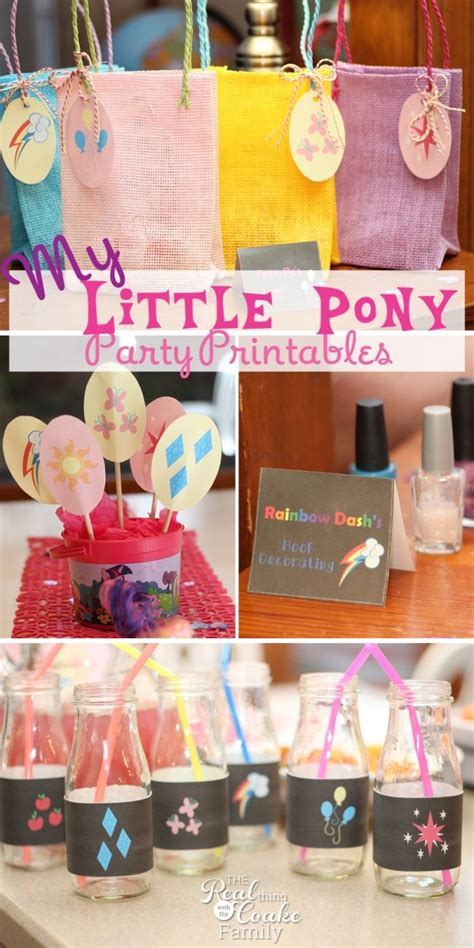 my little pony printable party decorations my little pony birthday party printables