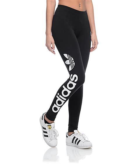 adidas legging adidas linear logo black leggings zumiez