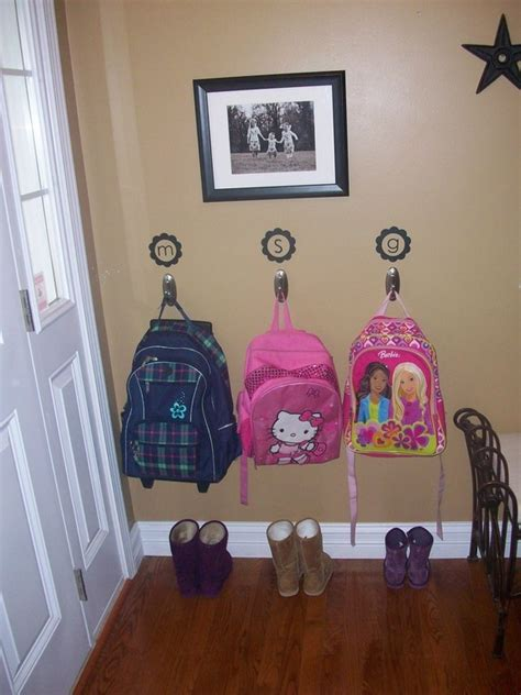 ideas for hanging backpacks one easy tip for back to school home key organization