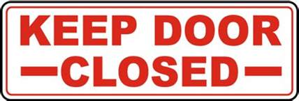 keep door closed sign by safetysign g1877